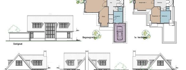 Nieuwbouw drie villa's – Alphen aan den Rijn