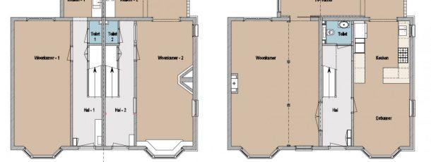 Samenvoegen twee woonhuizen – Bloemendaal 7